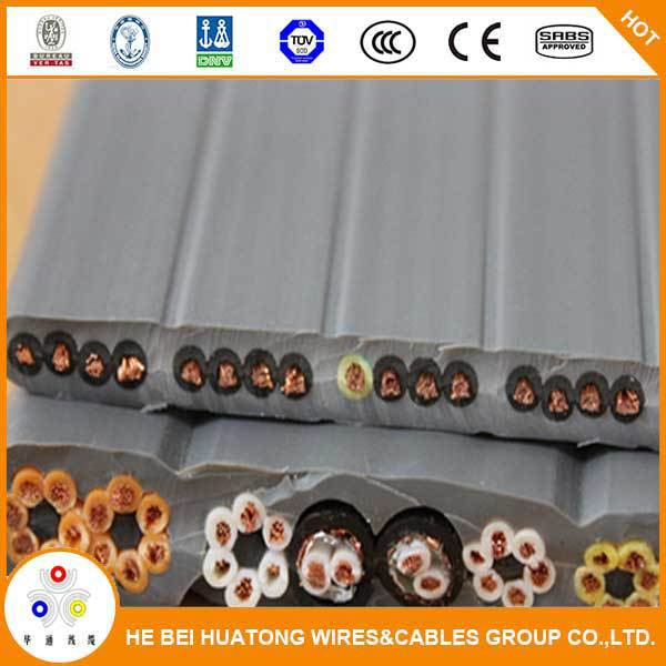 Low voltage TPE Flat elevator travel cables