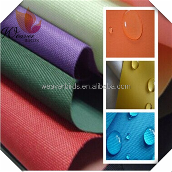 100% nice polyester plain dyed DTY oxford fabric for samsonite luggage/polo luggage fabric/luggage set fabric