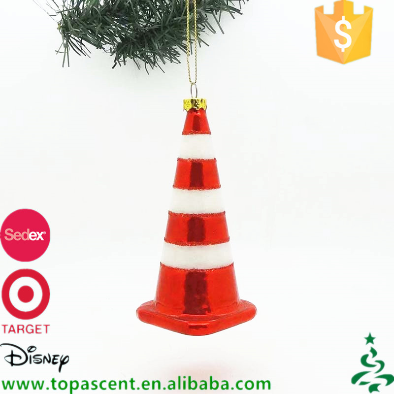 Newly design wholesale handmade blown glass christmas ornaments for xmas tree hanging