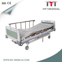 Medical hospital equipments optional IV pole three-function electric hospital bed