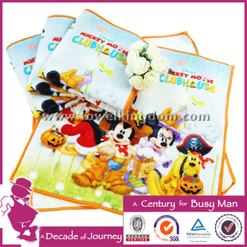 Hot Sale Cartoon Cotton Digital Printed Hand Towel