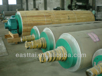 Granite roll or natural stone roll in paper processing machinery
