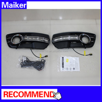 LED DRL Daytime Running light for Audi Q5 Light 6500K White Wateproof Auto Lamp With Retail Package for Audi Q5 09+