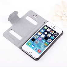 Good quality new trendy flip window case for iphone 5s 64gb unlocked pu leather stand case