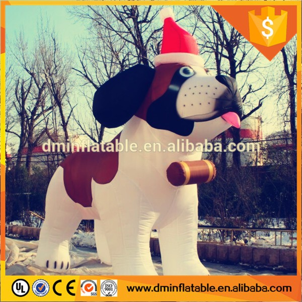 inflatable advertising cartoon,inflatable dog for Christmas
