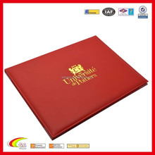 Customized cartificater case cheap certificate holder factory directly