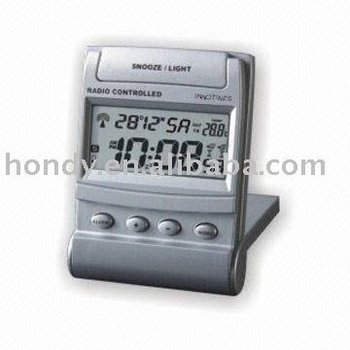 Portable Radio-controlled LCD Clock