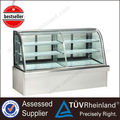 Professional Refrigeration Equipment 3 Layers Glass cake display stand