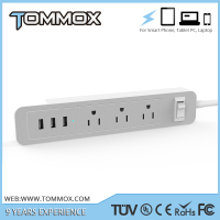Power strip/surge protector/power socket 3 gang extension outlet 3 usb