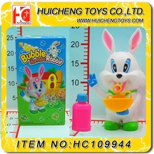 plastic rabbit cartoon model blowing bubble toy ,bubble gun with soap bubble water