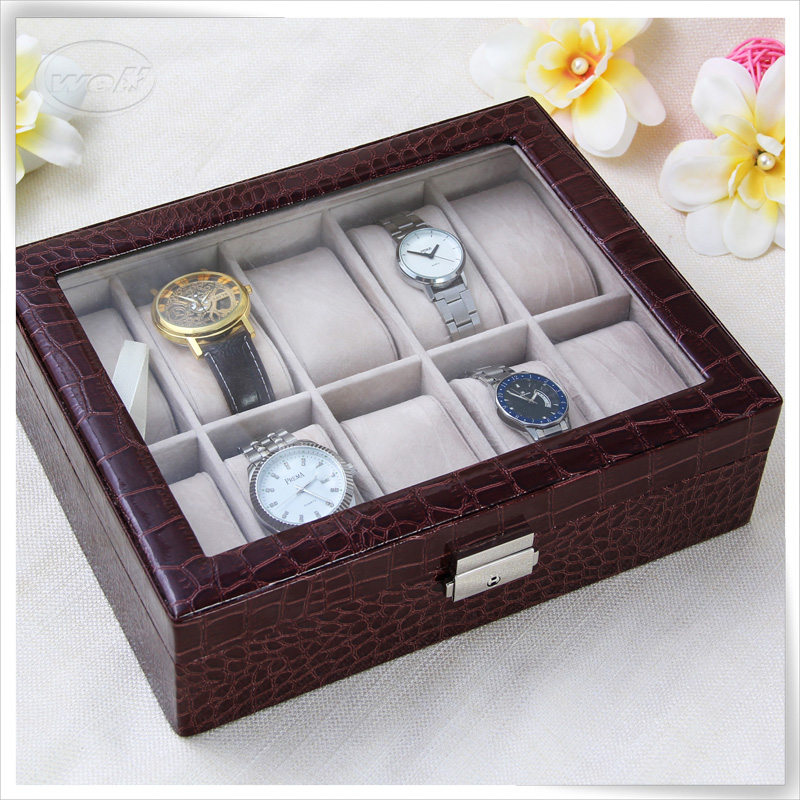 Display storage luxury custom leather watch box for man