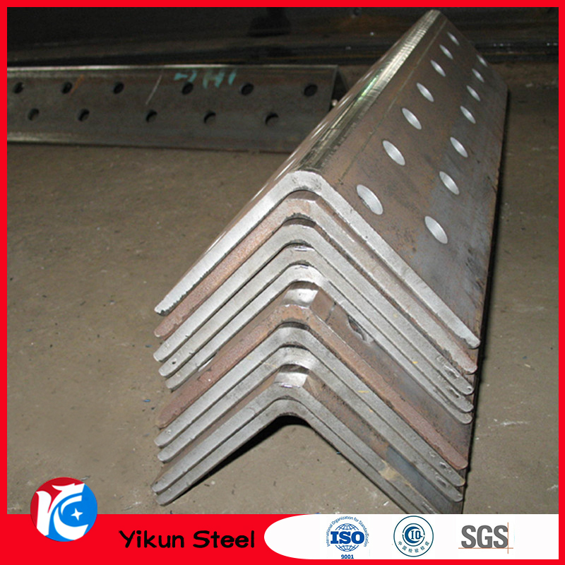 Steel angle with holes / perforated steel angle iron