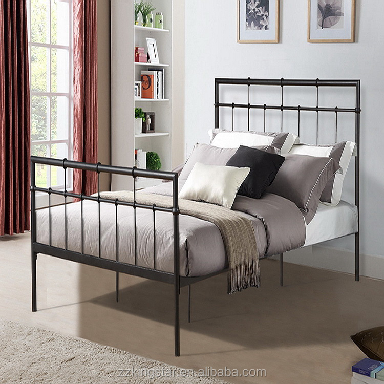 Cheap Metal Single Cot Bed Size Single Steel Bed Designs