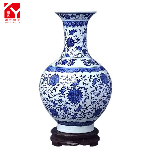 Blue and white porcelain blue white chinese porcelain vase from China in 2016