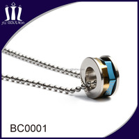 Stainless Steel Ball Bead Chain necklace with pendant