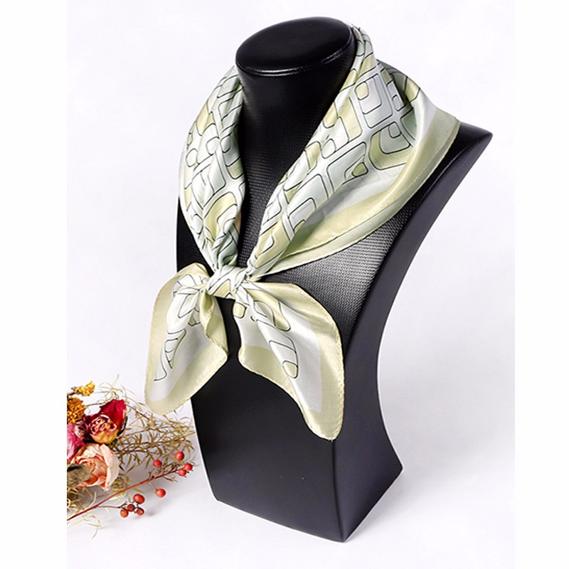 Multi-color square neckwear customized pure silk satin neckwear