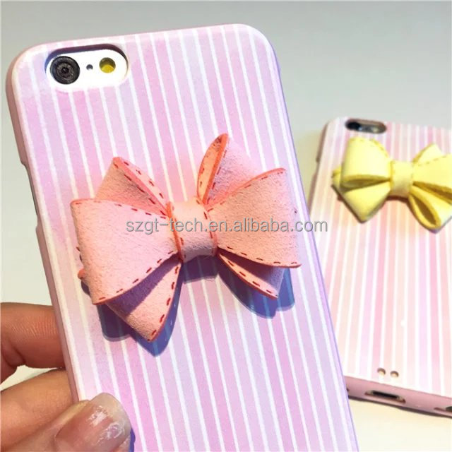 China supplier cute rosette PU leather skin tpu back cover leather case for iPhone 6 6S Cell Phone Cover