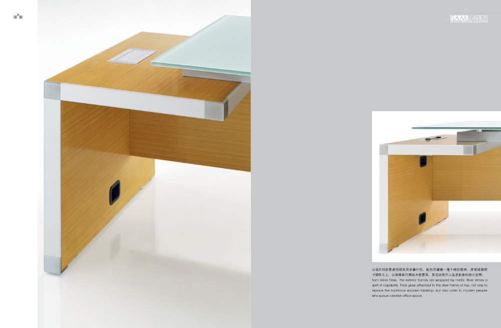 executive office desk with modern design for manager made