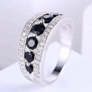 Zhefan 2018 hot sale popular style china factory black stone white gold ring price in pakistan