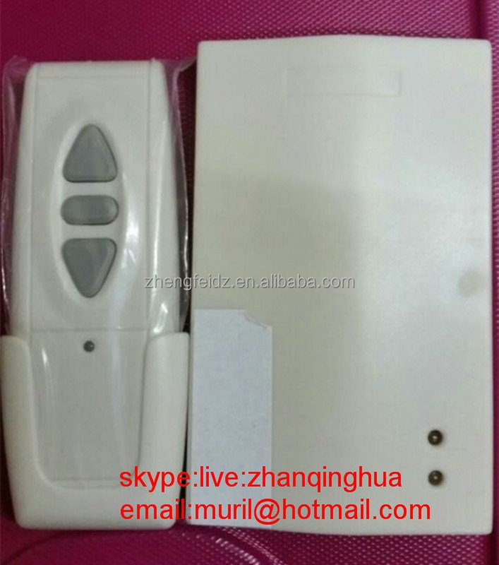 High Quality Mini White 3 Big Buttons RF Remote Control with Plastic Support for Special Receiver to United Arab Emirate Market