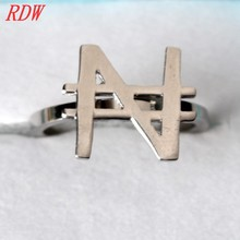 RDW Ring Jewelry Latest Unique Ring Designs With N Letter Perfect Currency Symbol Ring