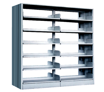 Double Sided Steel Bookshelves Metal School Library Book Shelf