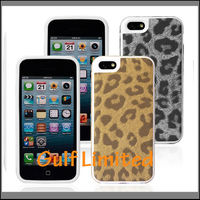 New leopard grain TPU back case cover for iphone5C