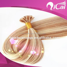 High Light Piano Color 27/613 Brown-Blonde Brazilian Hair Piano Certified Human U/Nail Tip Hair Extension