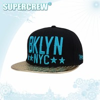 High Fashion Custom Sliver Snapback Caps 3D Embroidery,Wholesale Adjustable Snapback Caps Black