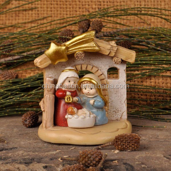 Wholesale handicraft products nativity house figurine