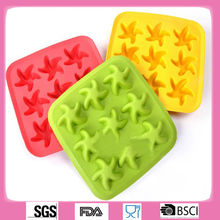 Starfish shape molde de silicone para sabonete/silicone molds for cake decorating