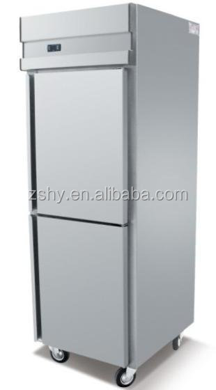 2 doors stainless steel kitchen storage <strong>refrigerator</strong>