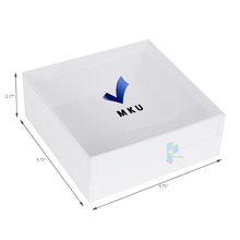customized packaging clear lid gift baby shoe box