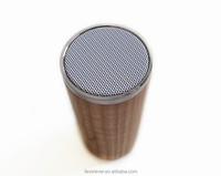 Speaker factory supply round wooden bluetooth waterproof wireless music box