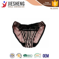 Pink and Black Japanese Girl Sexy Nylon Stripe Panty JS972 Accept OEM