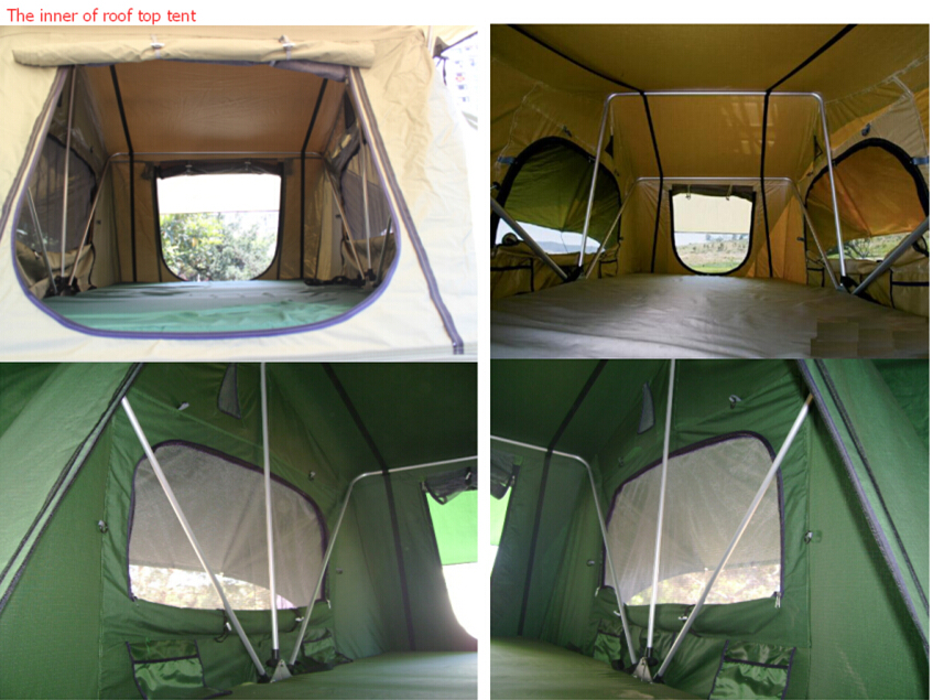 Outdoor Auto car roof top tent with annex camping rooftop tent 4x4