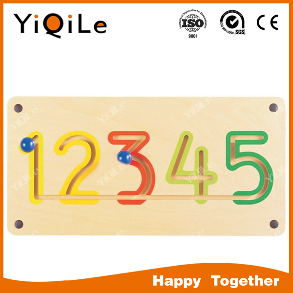 YIQILE small new design montessori wooden educational letter and number toy