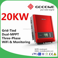 GoodWe DT series grid tied solar power inverter 20KW 380VAC 3 phase for commercial rooftop system with WiFi & monitoring