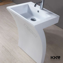 solid surface white matte basin, square shaped antique foot wash basin