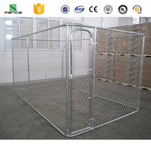 Iron fence dog kennel galvanized steel dog kennel