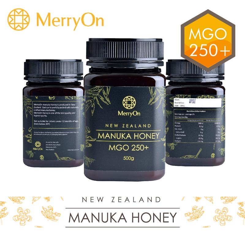 MerryOn - Made in New Zealand retail mgo 550 500g pure mature of natural for honey