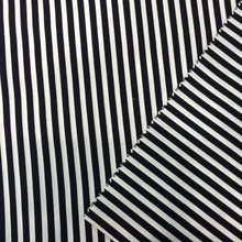 poly cotton black white striped satin fabric for uniform