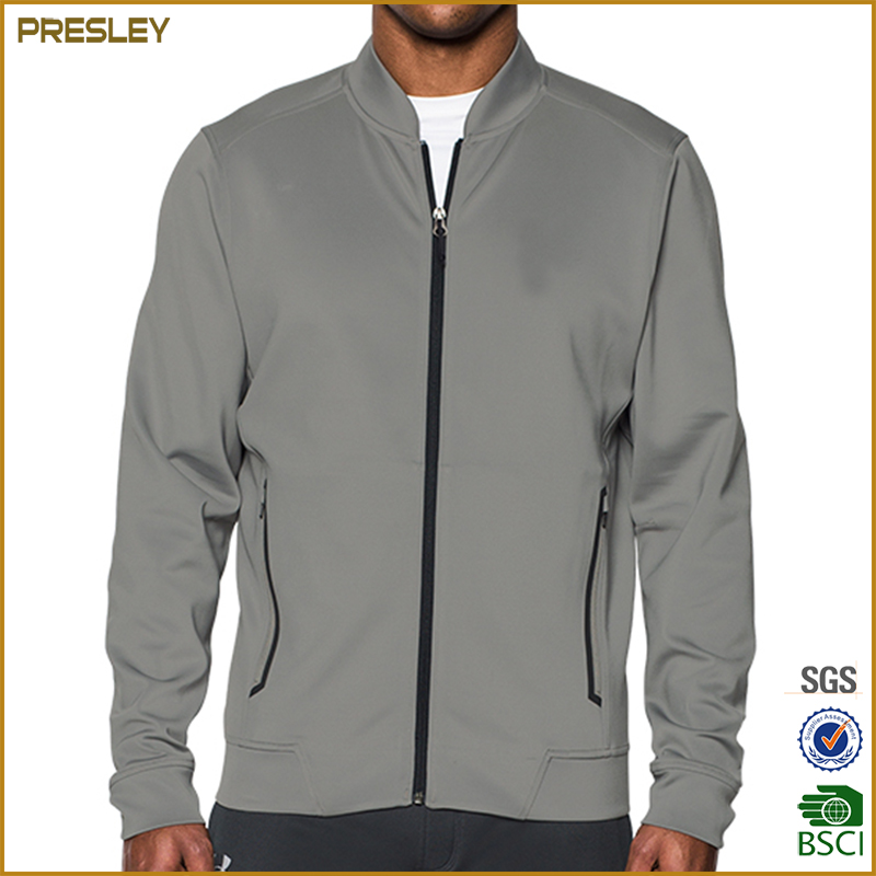 Latest zip up design custom mens sportswear wholesale elevated bomber sports jacket