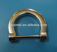 zinc alloy die casting high quality D Ring for bag accessories