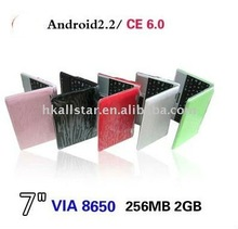 7 inch WinCE laptop with android 2.2 os