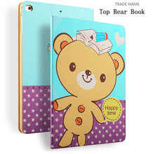 Flower diamond cover for Apple iPad air 2 Folio leather tablet case for iPad case wallet