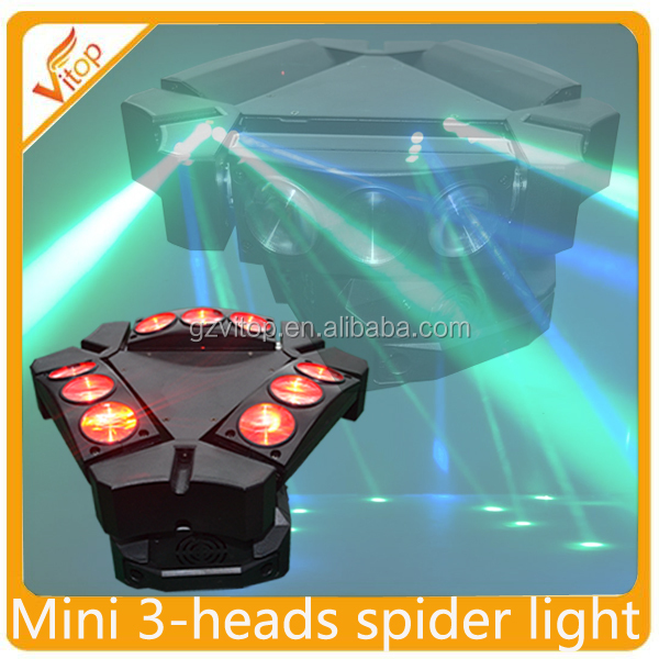 2016 Newest design mini ADJ Kaos 3-Head Spider Sharpy Beam LED Moving Head Light