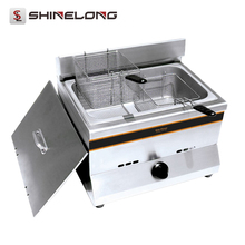 Fried Cooing Essential Heavy Duty Commercial Gas Fryer Machine With 1-Tank 2-Basket Fried Chicken Equipment