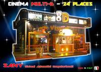 8D Theater Cinema in Prefabricated Structure