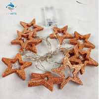 Professional design bling star shaped wooden holiday light